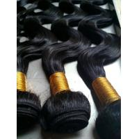 Brazilian virgin hair 100% REMY hair weft/hair weaving/hair bulk,10'' 6A hair weaving  color 1#/1B#