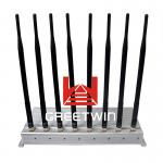 Desktop 8 Antennas Cell Phone Signal Jammer with Aluminium box
