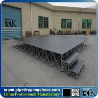 China Best sale customized portable smart stage with skirt for church on sale