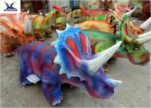 China Silica Gel Plush Animal Riding ToysTriceratops Scooters For Children on sale