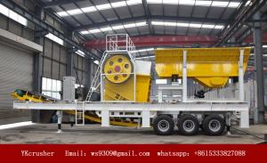 China Semi Mobile Crushing Plant PP Series Portable Jaw Crusher With Belt Conveyor on sale