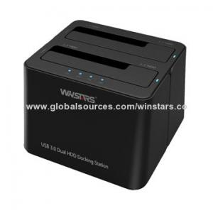 China Super speed USB 3.0 HDD docking station, supports HDD transfer to USB 3.0 high speed data storage on sale