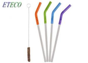 China Undiluted Cold Drinks Stainless Steel Drinking Straws Eco Friendly Silver on sale