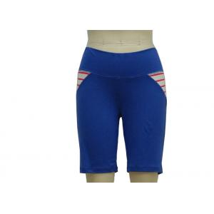 China Navy Blue Women'S Fashion Sportswear Half Length Workout Trousers Flatlock Technique on sale