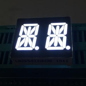 China Ultra Bright White 0.54 14 Segment Led Display Dual Digit common anode For Instrument Panel on sale