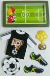 Black Layered Paper Custom Die Cut Sticker Sheets Football Game Decorative