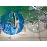 PVC / TPU Outdoor Inflatable Toys White 2m Walk On Water Balls , Children Playing Ball On Water