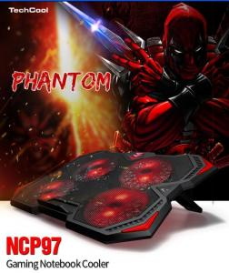 China Low Price laptop cooling pad portable laptop cooler pad usb fan with red LED light on sale