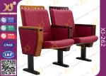 Molded Foam Low Back Stadium Theater Seating With MDF Writing Pad Spring Return