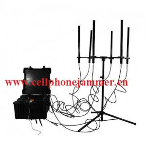 China 160W 4-8bands High Power Drone Jammer Jammer up to 1000m on sale