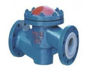 China Lined Lift Cast Iron Flanged Check Valve High Temperature PN10 to PN40 Pressure on sale