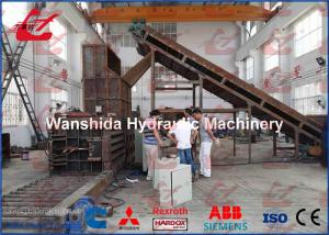China 125 Ton Plastic Film Baler Horizontal Baling Machine 5 Wires Bale on sale