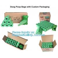 Bone Shaped Dog & Pet Waste Bag Holder - Holds Standard Rolls of Poop Bags, green color dog dispenser +3rollings waste b