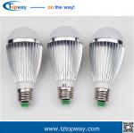 Aluminum outdoor 7w 9w 12w  e27 pir infrared led motion sensor light bulb