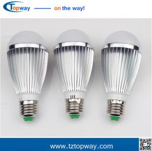 China Aluminum outdoor 7w 9w 12w  e27 pir infrared led motion sensor light bulb on sale