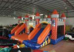 Classic inflatable castle jump house colourful inflatable bouncy double slide combo house for kids under 15 years old