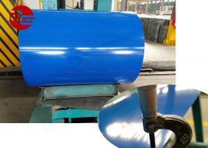 China Roller Coating Line PPGI Steel Coil , Building Decoration Color Coated Steel Coil on sale