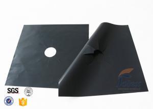"China PTFE Coated Fiberglass Fabric Gas Stove Burner Liners 10.6"" X 10.6"" 4 PCS on sale"