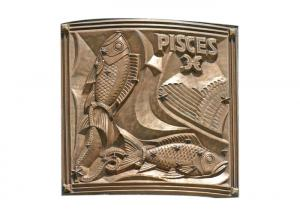 Quality Different Sizes Pisces Bronze Relief Plaque Welding Craft 200*200cm for sale