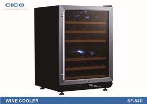 China Black Upright Compressor Wine Cooler , Kitchen Dual Temp Wine Fridge on sale