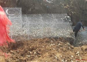 China River Protection Gabion Reno Mattress With Zn - Al Coated Wire Material on sale