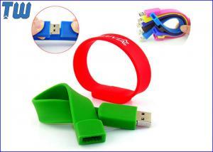 China Fácil colorido llevar el pulgar de la pulsera del silicio conduce 2GB 4GB para los regalos con la impresión del logotipo on sale