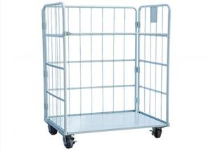 China Stackable Logistic Metal Cage Trolley A Frame Security Folding 4 Sided on sale