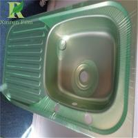 0.03-0.22mm Stainless Steel Adhesive Green Film For Deep Drawing
