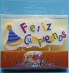 Spanish Happy Birthday Shaped Birthday Candles With Plastic Toothpick Unusual Design