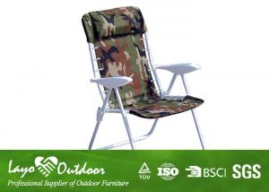 China Fold Away Sun Loungers Steel Outdoor Patio Chairs With Pillow 61 X 61 X 97cm on sale
