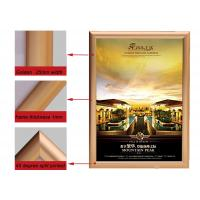 A2 Size Golden Color Aluminium Snap Frames , Jewelry Advertising Snap Display Frames