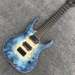 7 strings Mayones blue burst electric Guitar Ebony Fretboard locking Tuners Bolt-on OM logo mayones Duvell electric guit