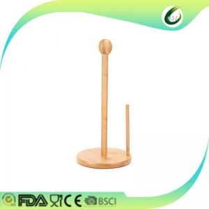 China Bamboo kitchen paper towel holder on sale