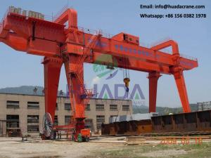 China 50ton mg box type double beam box girder gantry crane with trolley on sale
