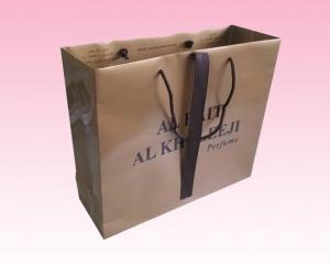 China custom big small brown paper bags bulk printing manufacturer with design on sale