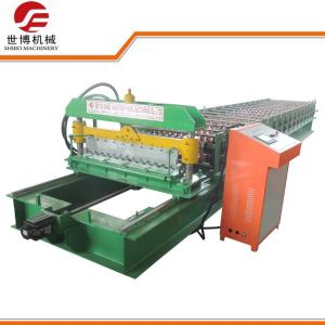 China 4KW Corrugated Roof Panel Roll Forming Machine With Automatic Control System on sale