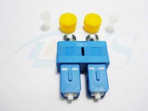 China FC-SC Simplex Fiber Optic Adapter Plastic Metal With Ceramic / Zirconia Sleeve on sale