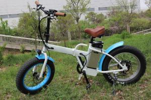 China Suspensión sin cepillo eléctrica del motor del eje de la bici 250W del neumático gordo portátil on sale