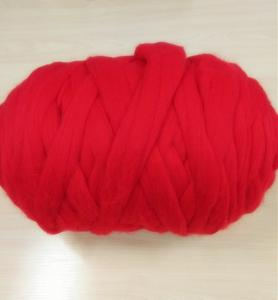 China Super giant and soft 100% Merino Wool Top Roving Raw white and Dyed Thick Yarn Wool on sale