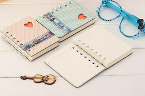 China A5 size hard cover spiral notebook with elastic band on sale