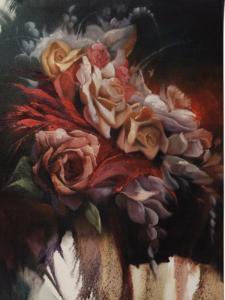 China Diamond Painting Flower pink rose diamond embroidery home art on sale