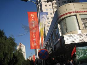 China PVC Flex, Fishnet Custom Flags Banners With 130g polyester banner, flag fabric on sale