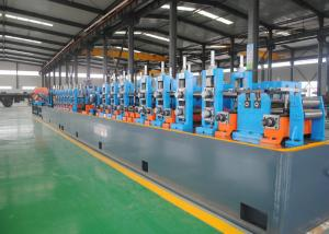 China High Performance Carbon Steel ERW Pipe Mill , Steel Pipe Manufacturing Machine on sale