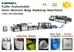 China 700 Model Automated Non Woven Bags Making Machine CE ISO Approval on sale