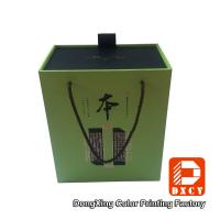 China Elegant Eco Sturdy Cardboard Wine Gift Boxes Customized Gold Stamping Surface on sale