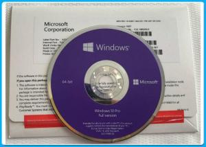 China Win10 Pro OEM Key 64 Bit DVD oem pack Win 10 Professional COA Key Genuine license Activation on sale