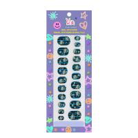 Halloween Pattern Nail Art / Paper Finger Nail Stickers Wraps For Children