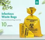 Cytotoxic Waste Bags, Hazadous Waste Disposal Chemotherapy Waste Bags Zipper Enclosure With Pouch