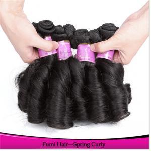 China HS Factory Price Wholesale Grade Unprpcessed Spring Curls Hair Weaving on sale