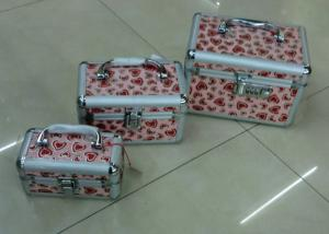 China Aluminum Framed Travel Cosmetic Bags Leathered Board Material For Women on sale